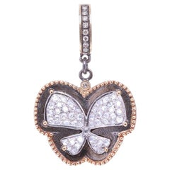 Diamond Butterfly Gold Pendant Necklace Cynthia Ann Jewels Estate Fine Jewelry