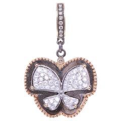 Diamond Butterfly Gold Pendant Necklace Cynthia Ann Jewels Estate Fine Jewelry