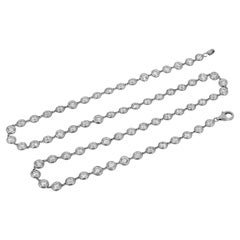 Diamond-by-the-Yard 18k Gold Necklace