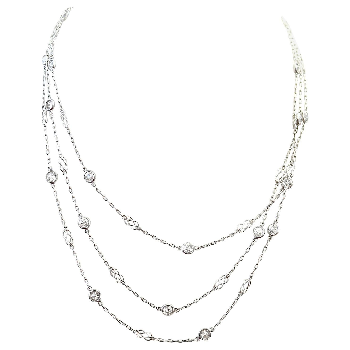 Diamonds by The Yard Platinum Necklace