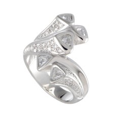 Diamond Bypass Band Platinum Ring