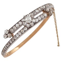 Diamond Bypass Bangle Bracelet