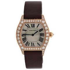Diamond Cartier Tortue Rose Gold Watch, Small Model
