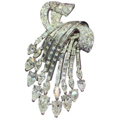 Diamond Cascade Brooch