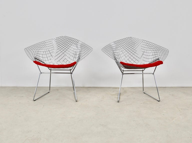 Mid-Century Modern Diamond Chairs by Harry Bertoia for Knoll, 1980s For Sale