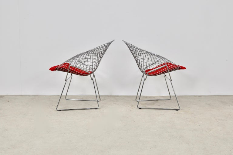 Late 20th Century Diamond Chairs by Harry Bertoia for Knoll, 1980s For Sale