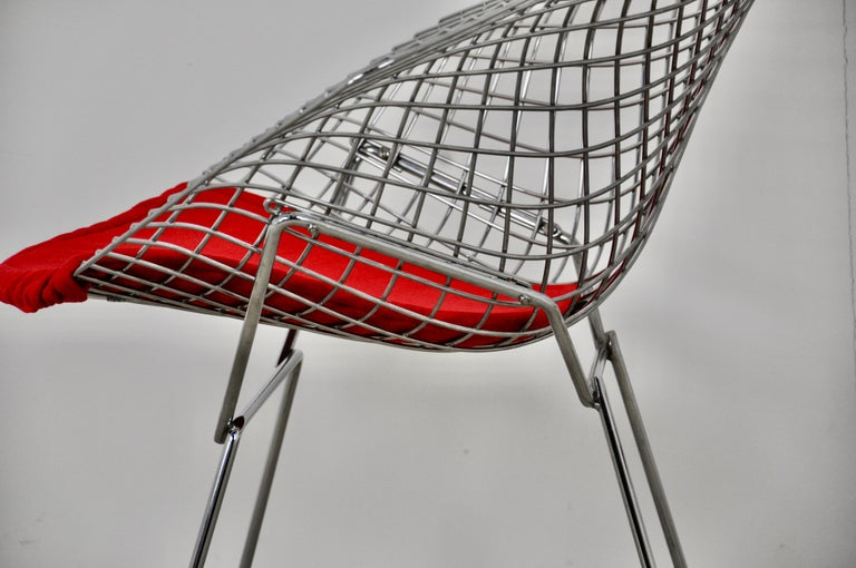 Metal Diamond Chairs by Harry Bertoia for Knoll, 1980s For Sale