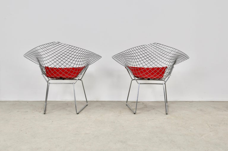 Diamond Chairs by Harry Bertoia for Knoll, 1980s For Sale 1