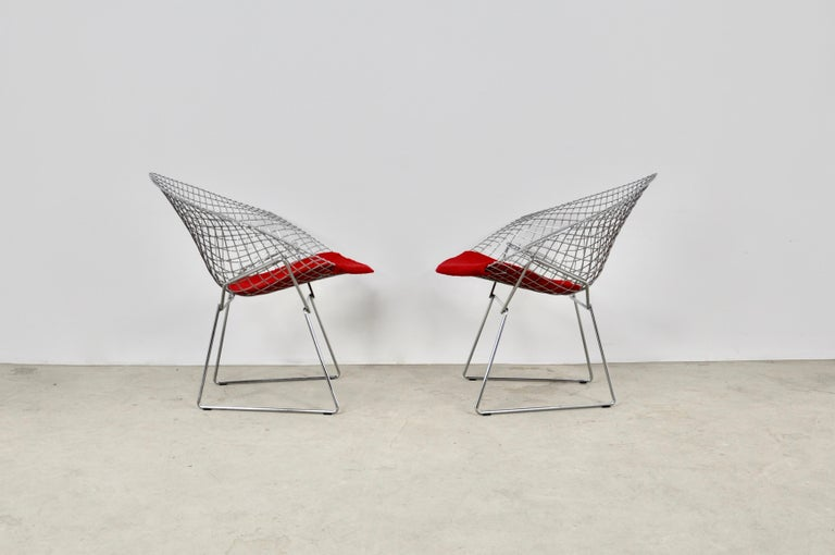 Diamond Chairs by Harry Bertoia for Knoll, 1980s For Sale 2