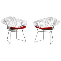 Diamond Chairs by Harry Bertoia for Knoll, 1980s