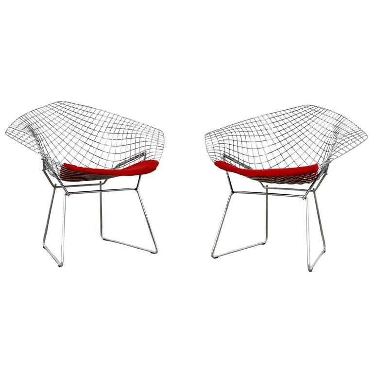 Diamond Chairs by Harry Bertoia for Knoll, 1980s For Sale