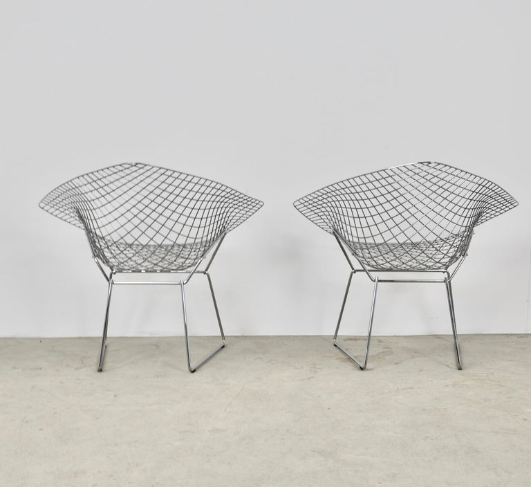 Diamond Chairs by Harry Bertoia for Knoll, 1980s Set 2 3