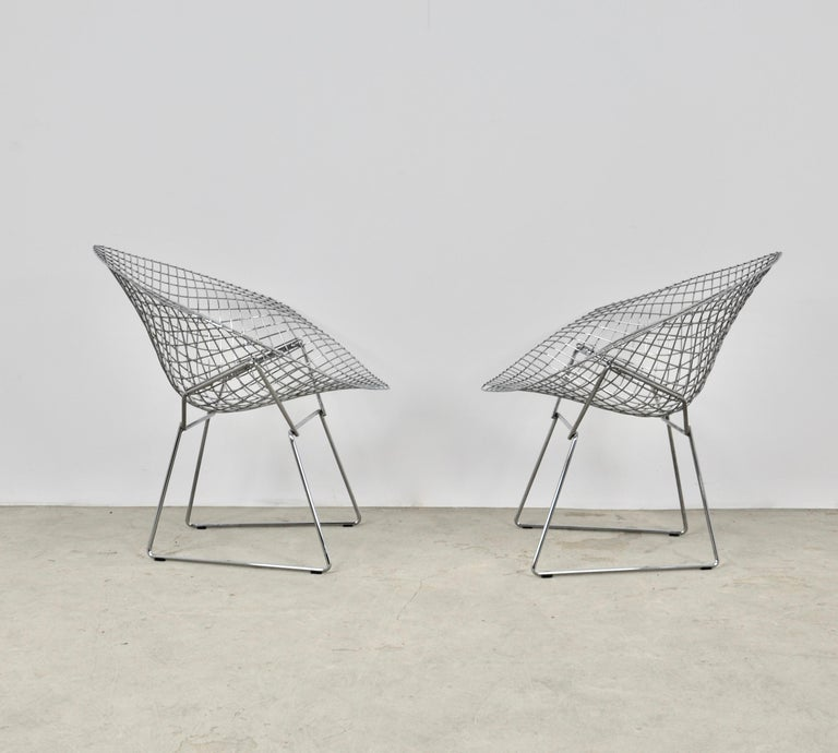 Diamond Chairs by Harry Bertoia for Knoll, 1980s Set 2 4
