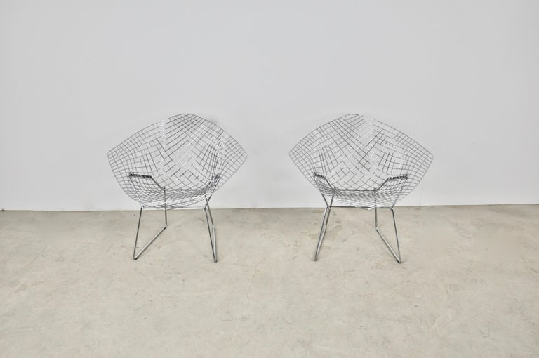 Central American Diamond Chairs by Harry Bertoia for Knoll, 1980s Set 2