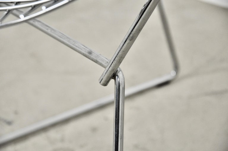 Metal Diamond Chairs by Harry Bertoia for Knoll, 1980s Set 2