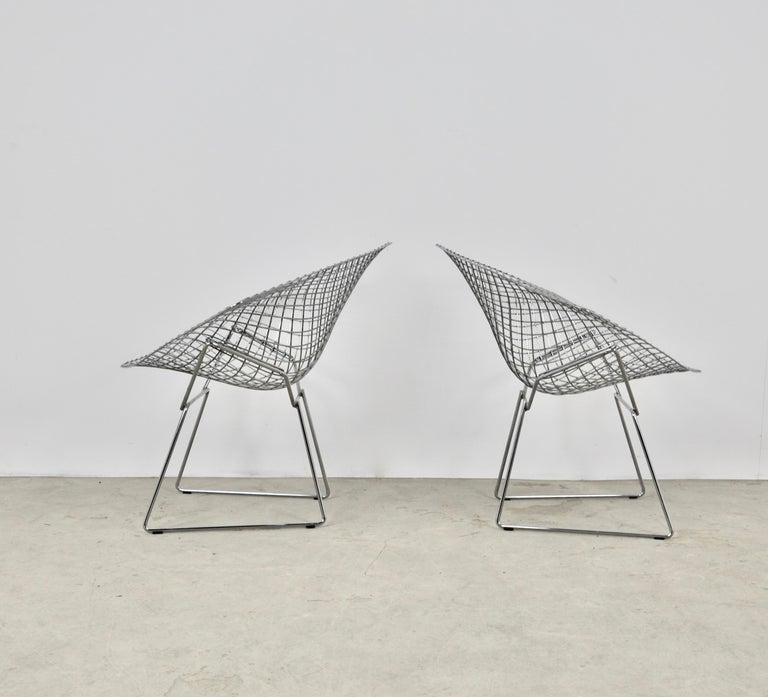 Diamond Chairs by Harry Bertoia for Knoll, 1980s Set 2 2
