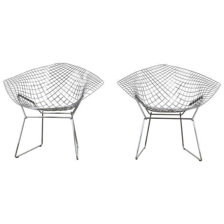 Diamond Chairs by Harry Bertoia for Knoll, 1980s Set 2