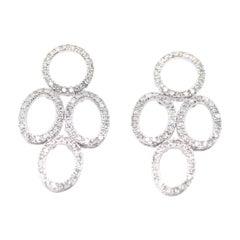 Diamond Chandelier Earrings in 18 Karat White Gold