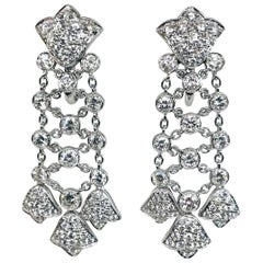 Diamond Chandelier Earrings White Gold