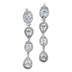 Diamond Chandelier Style Earrings