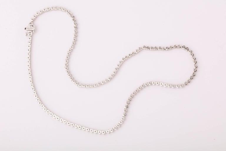 Diamond Choker Tennis Necklace For Sale 1