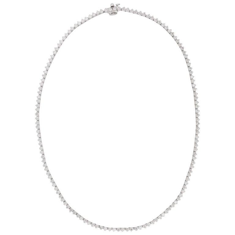 Diamond Choker Tennis Necklace For Sale