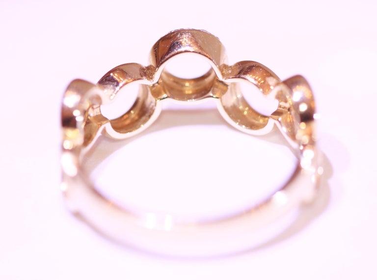 Diamond Circle Band 14 Karat Yellow Gold For Sale 1