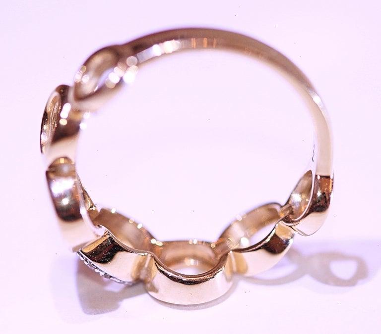 Diamond Circle Band 14 Karat Yellow Gold For Sale 3