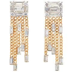 MMNY Diamond Clarity Tassel 18 Karat Earrings