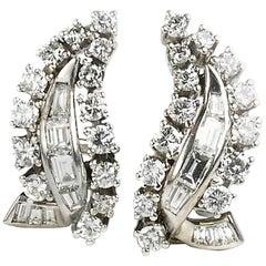 Diamond 3.00 Carat Clip Earrings