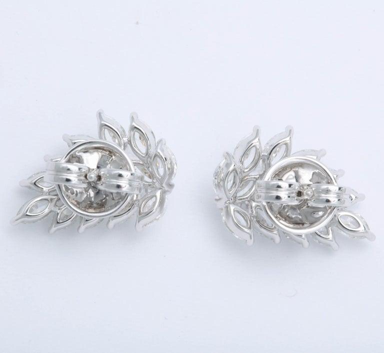 Women's Diamond Cluster Earring Cuffs For Sale