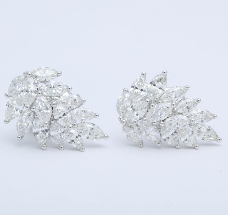Diamond Cluster Earring Cuffs For Sale 1