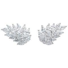 Diamond Cluster Earring Cuffs