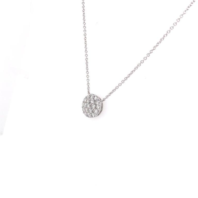 Brilliant Cut Diamond Cluster/Pavee Pendant
