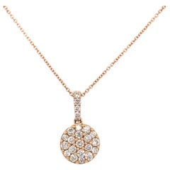 Diamond Cluster/Pavee Pendant Necklace