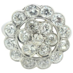 Diamond Cluster Ring 3.00 Carat