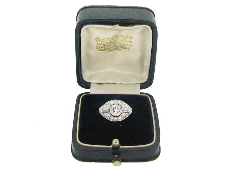 Diamond Cluster Ring by Boucheron Paris, circa 1950s For Sale 1