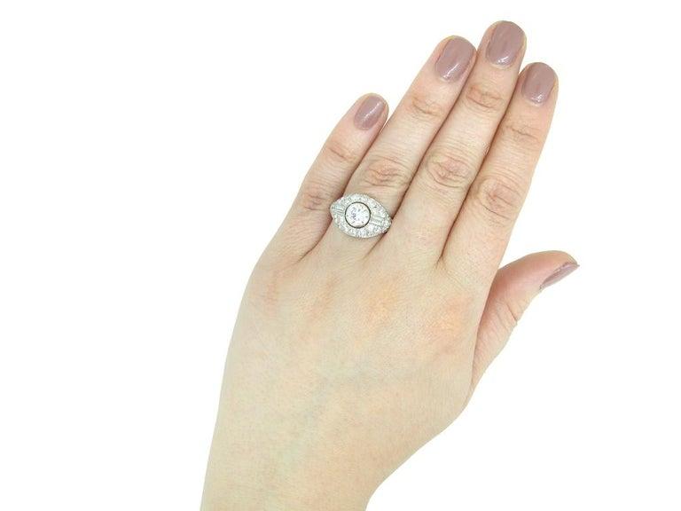 Diamond Cluster Ring by Boucheron Paris, circa 1950s For Sale 2