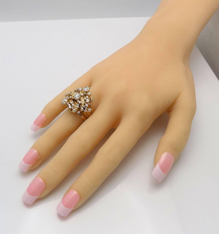 Diamond Cluster Ring For Sale 3