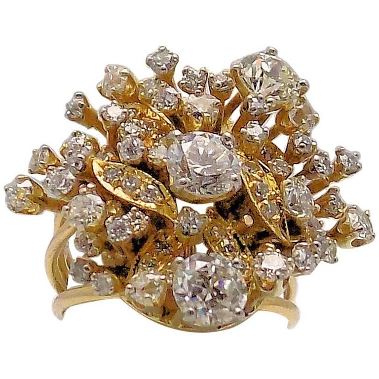 Diamond Cluster Ring For Sale