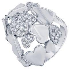 Diamond Cocktail Ring 14 Karat White Gold