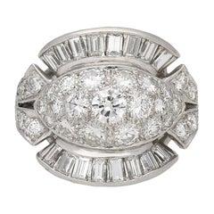 Diamond Cocktail Ring, American, circa 1950