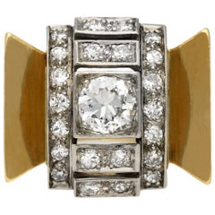 Diamond Cocktail Ring, circa 1940