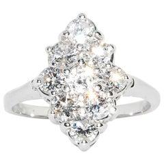 Diamond Cocktail Ring in 14 Karat White Gold