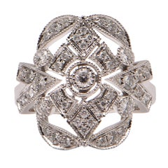 Diamond Cocktail Ring in 18 Carat White Gold