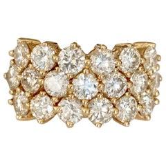 Diamond Cocktail Ring in 18 Karat Yellow Gold