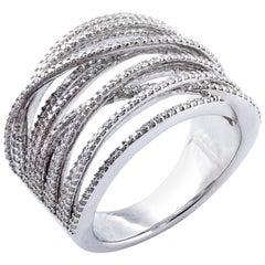 Diamond Cocktail Ring Set in 18 Karat White Gold 'VS/G Diamonds'