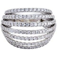 Diamond Cocktail Ring Set in 18 Karat White Gold 'VS/G Quality'