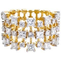 Diamond Cocktail Ring Set in 18 Karat Yellow Gold 'VS/G Quality Diamonds'