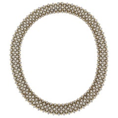 Diamond Collar Necklace in Two-Tone Gold
